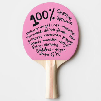 Raquete De Tênis De Mesa Pá genuína de Pong do sibilo da menina do espécime