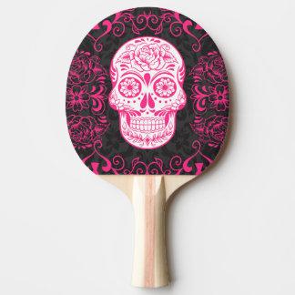 Raquete De Tênis De Mesa Pá gótico de Pong do sibilo do preto do rosa do