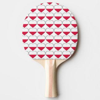 Raquete De Tênis De Mesa Pá polonesa de Pong do sibilo do coração