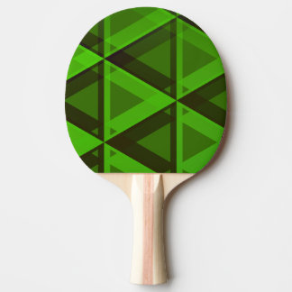 Raquete De Tênis De Mesa Pá verde abstrata do teste padrão dos triângulos