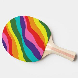 Raquete De Tênis De Mesa Padrões do arco-íris