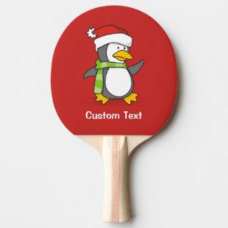 Raquete De Tênis De Mesa Pinguim do Natal que anda na neve