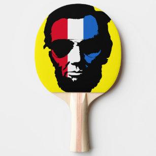 425bf5d2eb1e0 Raquete De Tênis De Mesa Pop art legal dos óculos de sol de Lincoln (azul