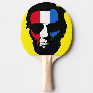 Raquete De Tênis De Mesa Pop art legal dos óculos de sol de Lincoln (azul