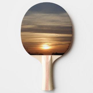 Raquete De Tênis De Mesa Por do sol do inverno