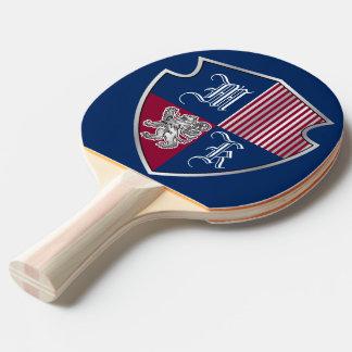 Raquete De Tênis De Mesa Protetor do leão da prata do emblema do monograma