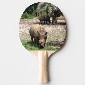Raquete De Tênis De Mesa Rhinos na pá de Pong do sibilo do safari