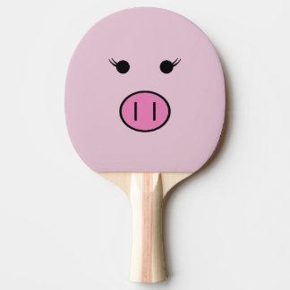 Raquete De Tênis De Mesa Sadie o porco cor-de-rosa | Kawaii bonito