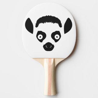 Raquete De Tênis De Mesa Silhueta da cara do Lemur