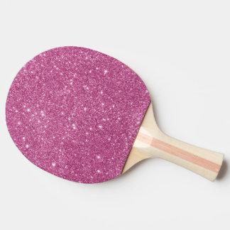 Raquete De Tênis De Mesa Sparkles do brilho do rosa quente