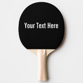 Raquete De Tênis De Mesa Sua do texto pá preta feita sob encomenda de Pong