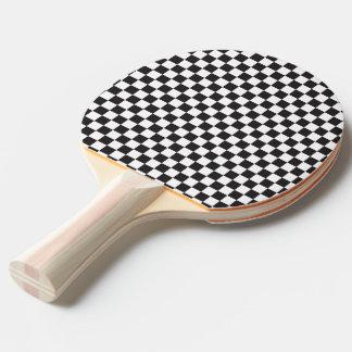 Raquete De Tênis De Mesa Teste padrão Checkered preto e branco