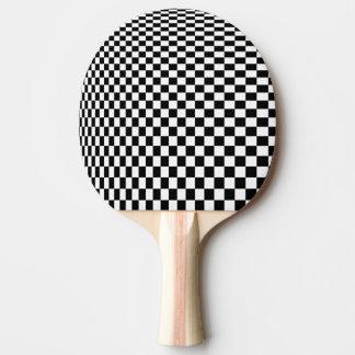 Raquete De Tênis De Mesa Verificadores preto e branco da ilusão óptica