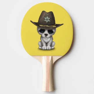 Raquete De Tênis De Mesa Xerife bonito do lobo do bebê