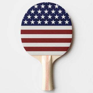 Raquete Para Ping-pong A bandeira americana dos EUA 4o julho personalizou