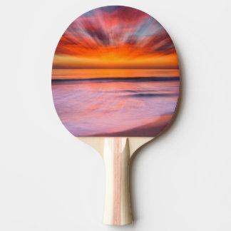 Raquete Para Ping-pong Abstrato do por do sol da praia de Tamarack
