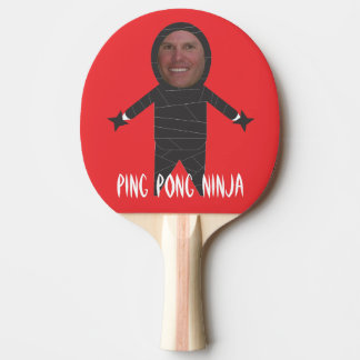 Raquete Para Ping-pong Adicione sua pá engraçada de Pong Ninja do sibilo