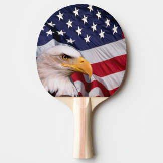 Raquete Para Ping-pong Águia americana com bandeira americana