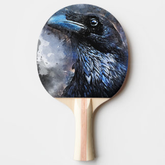 Raquete Para Ping-pong #animals do #bird do #crow da arte do corvo