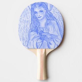 Raquete Para Ping Pong Anjo calmo no azul