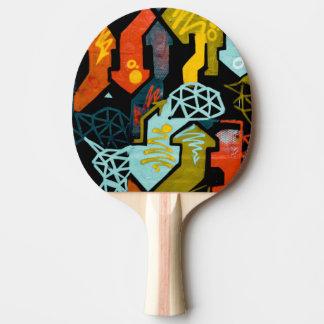 Raquete Para Ping Pong Arte abstracta de pás de Pong do sibilo das setas