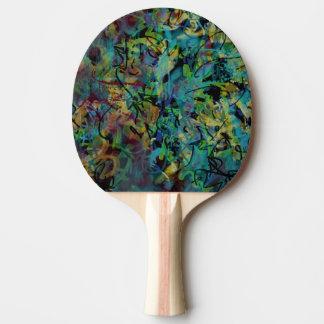 Raquete Para Ping Pong Arte abstracta Scribbled colorido