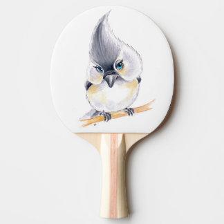 Raquete Para Ping Pong Arte bonito do Titmouse