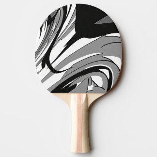 Raquete Para Ping Pong Arte preto e branco da forma