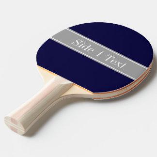 Raquete Para Ping-pong Azuis marinhos contínuos, obscuridade - monograma