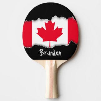 Raquete Para Ping-pong Bandeira clássica de Canadá