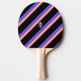 Raquete Para Ping-pong Bandeira das listras dos Estados Unidos