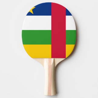Raquete Para Ping-pong Bandeira de Central African Republic