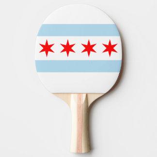 Raquete Para Ping Pong Bandeira de Chicago, Illinois
