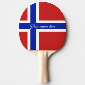 Raquete Para Ping Pong Bandeira do escandinavo de Noruega