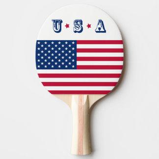 Raquete Para Ping-pong Bandeira EUA americanos de América