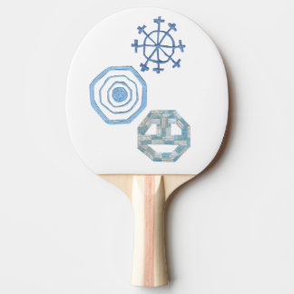 Raquete Para Ping Pong Bastão especial de Pong do sibilo do floco de neve