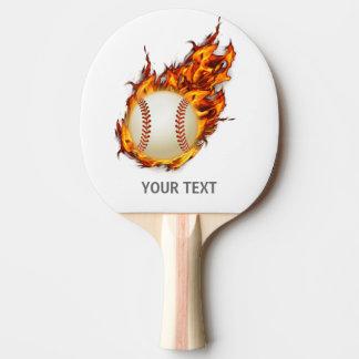 Raquete Para Ping-pong Bola personalizada do basebol no bastão do fogo