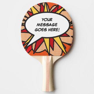 Raquete Para Ping-pong Bolha personalizada do discurso do pop art da
