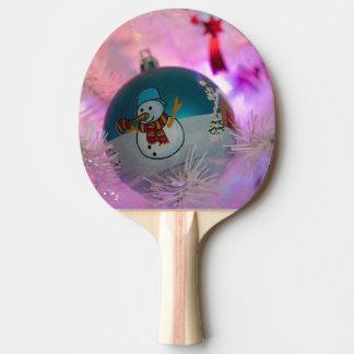 Raquete Para Ping Pong Boneco de neve - bolas do Natal - Feliz Natal