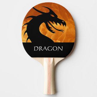 Raquete Para Ping Pong Cabeça do dragão com a pá de Pong do sibilo do