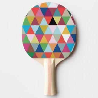 Raquete Para Ping Pong Caleidoscópio colorido pá modelada de Pong do