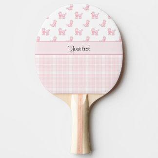 Raquete Para Ping-pong Caniches & verificações cor-de-rosa do rosa