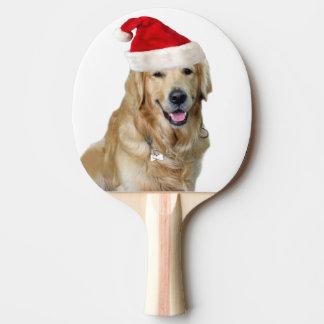 Raquete Para Ping Pong Cão-animal de estimação do cão-papai noel de claus