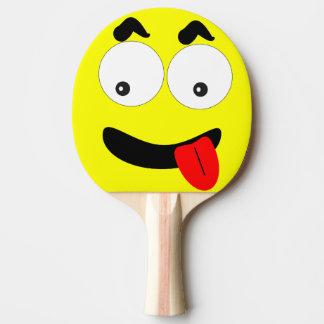 Raquete Para Ping Pong Cara engraçada da pá de Pong do sibilo