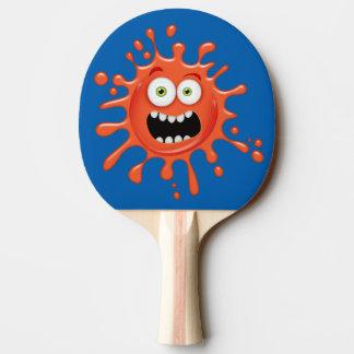 Raquete Para Ping-pong Cara Scared super Splattered na pá de Pong do
