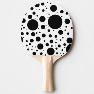 Raquete Para Ping Pong Centenas de pontos e de círculos pretos no tamanho