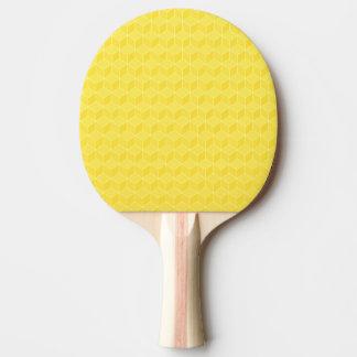 Raquete Para Ping-pong Conexão em cascata brilhante dos cubos do amarelo