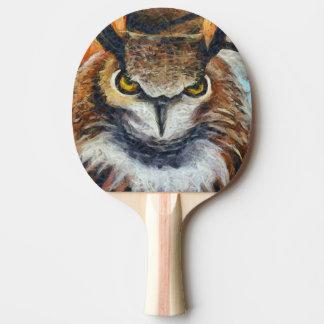 Raquete Para Ping-pong Coruja mal-humorada Horned grande