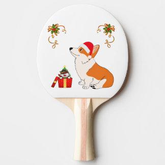Raquete Para Ping-pong Desenhos animados do Corgi de HolidayWelsh