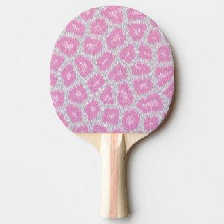 Raquete Para Ping Pong Estilo do leopardo de neve - rosa de prata